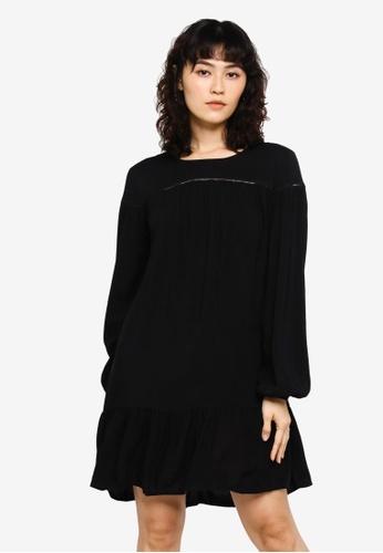 JACQUELINE DE YONG black Riana Long Sleeve Short Dress 5FC28AAFB78229GS_1