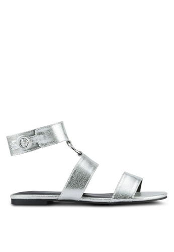Something Borrowed silver Ankle Cuff Ring Sandals 93201SHA0D6B02GS_1