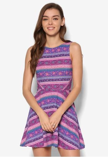 Savannah 無袖印花esprit outlet 高雄洋裝, 服飾, 洋裝