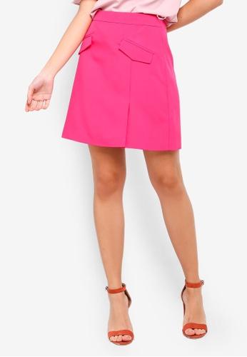 ZALORA pink Pockets Details Skirt 8D7DBAA275D3F8GS_1