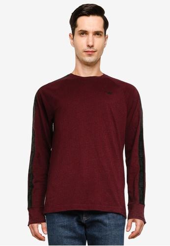 Hollister 紅色 Jersey 圖案T恤 B976CAA9AB3097GS_1