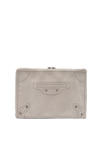 Balenciaga beige BALENCIAGA BLACKOUT HALF ZIP AROUND CLUTCH 9E063AC1802050GS_1