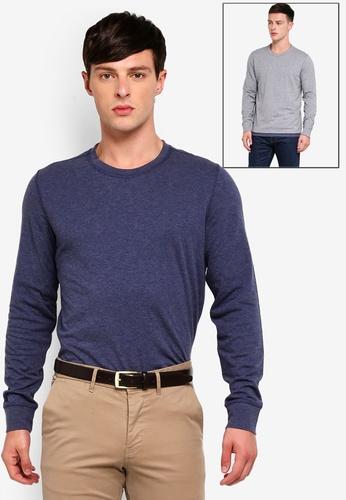 Brooks Brothers 藍色 正反T恤 86B8BAAA7D0B8CGS_1