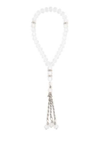 SHALIMAR white Beads Crystal Premium 33 Tasbih SH713AA81CMGID_1