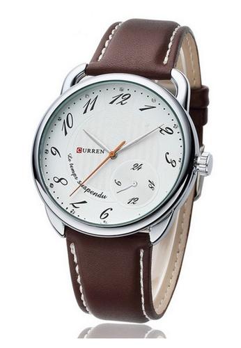 curren white Curren 8147 Men's Leather (Watch White) CU537AC15RQQMY_1
