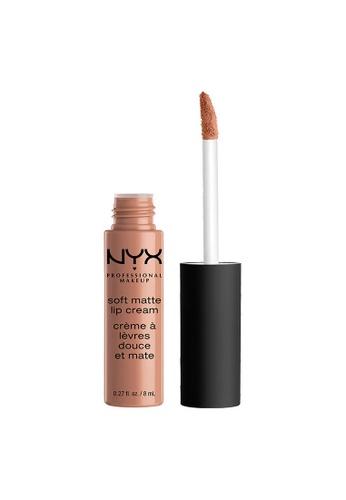 NYX Professional Makeup pink NYX Professional Makeup Soft Matte Lip Cream - LONDON FC63BBEFE13B94GS_1