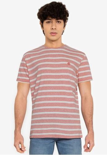 Springfield red Essential Stripe T-Shirt 34C7EAA3B9E3D0GS_1