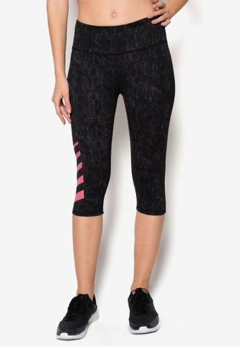印花貼身五分運動褲, 運動, 運動zalora時尚購物網的koumi koumi