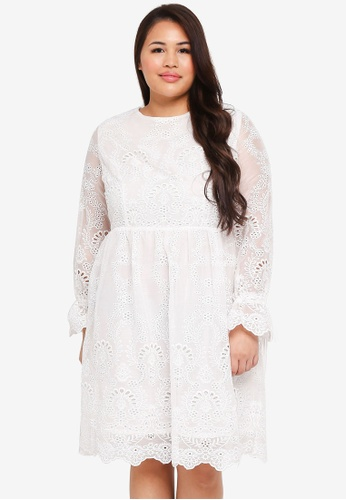 Shop Glamorous Plus Size White Lace Dress Online On Zalora Philippines