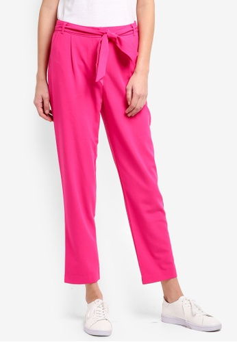 ONLY pink ONLY ONE Belt Pants 2DBECAA5C8133BGS_1