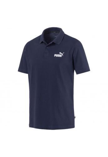 PUMA grey Essentials Men's Jersey Polo F0DC8AA04ADDC9GS_1