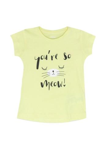 FOX Kids & Baby yellow Baby Girl Short Sleeve Tee 99E16KAE1518E5GS_1
