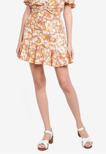 Mink Pink multi El Royale Mini Skirt F8F7FAAF08E7A9GS_1