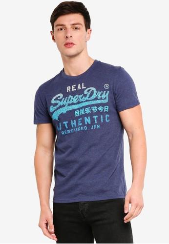 Superdry blue Vintage Authentic Fade Tee 5188DAA87DA732GS_1