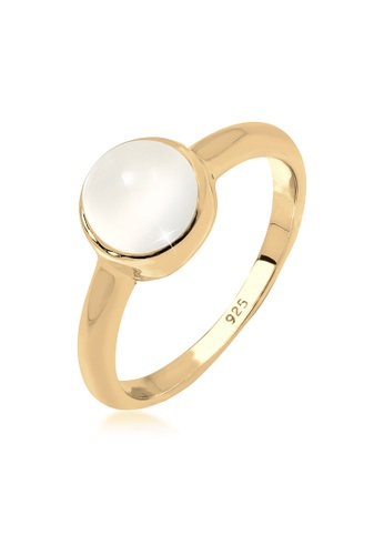 ELLI GERMANY gold Ring Gemstone Moonstone Gold Plated C3D64AC8298373GS_1