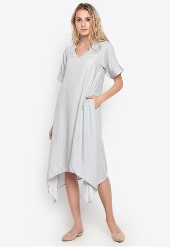 efe97762cb20 Shop Chloe Edit Aleli Low Vneck Asymmetrical Dress Online on ZALORA  Philippines