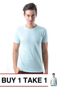 Newyork Army Round-neck Men's Plain Shirt with Shoulder Lining