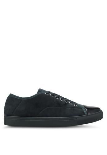 ZALORA green Velvet Laced Up Sneakers EC0F1SH3EBF3F5GS_1