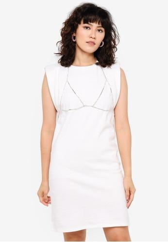 Urban Revivo white Applique Dress 016BCAA81F9BDCGS_1