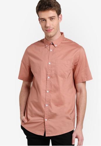 New Look pink Pink Cotton Short Sleeve Shirt NE182AA91PRGMY_1