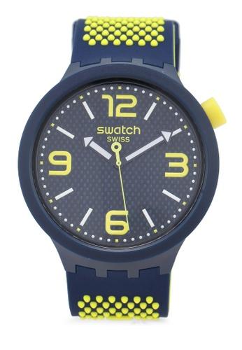 Swatch blue Big Bold Neon Watch C199FACFCA0016GS_1