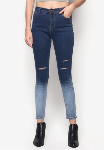刷破漸層丹zalora時尚購物網評價寧長褲, 服飾, 牛仔褲