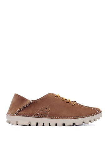 Life8 brown 2way Nubuck Leather Casual Shoes LI283SH15KRWSG_1