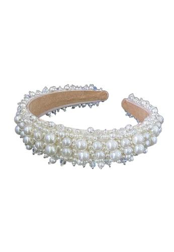 Kings Collection white Faux Pearl Headband (HA20021) 16E26ACBB56219GS_1