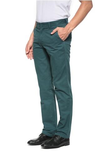 POLO HAUS green Polo Haus - Straight Cut Cotton Long Pant (Green) PO783AA91PKQMY_1