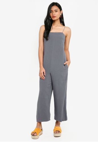 TOPSHOP blue Square Neck Slouch Jumpsuit B14F6AA0172034GS_1
