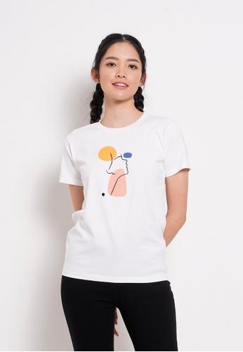 Fave white Short Sleeve Graphic Tee E9F3DAA7E7563FGS_1
