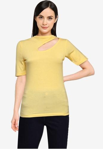 Vero Moda yellow Glow Short Sleeves Top D7EA1AA60160A2GS_1