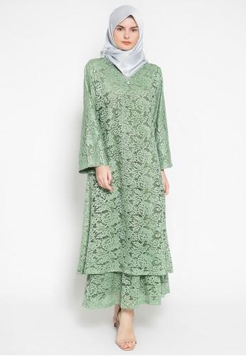 Kasa Heritage green Hala Dress - Green 2F152AA016CC8FGS_1