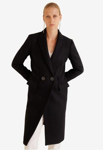 MANGO black Structured Wool Coat 52277AADA42A0FGS_1