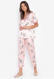 FEMINISM pink Shortsleeve Pajama Set 63FD5AA5E63FFDGS_1