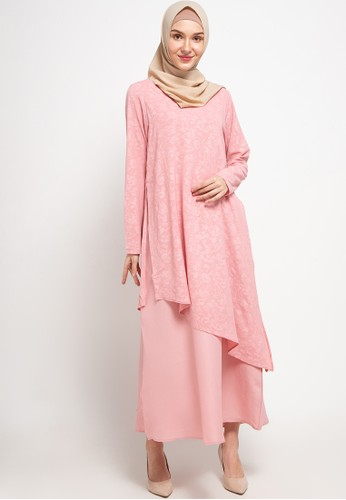 AZZAR pink Solana Maxi Dress C76AEAA425F61CGS_1