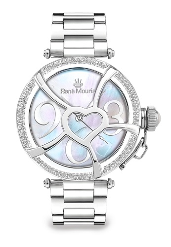 René Mouris multi Coeur d' Amour Collection - 38mm Stylish Quartz Watch For Ladies - Crystals on Bezel - Made in France BA285ACCE676A9GS_1