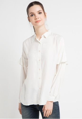 Lois Jeans white Blouse 2BE7FAAE3FD2EAGS_1