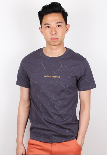 Moley grey Perfectly Imperfect Wall Crack T-Shirt MO329AA0FI58SG_1