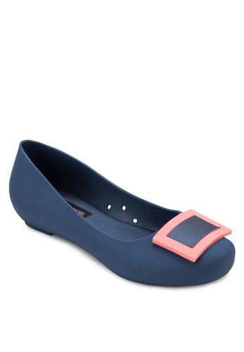 方形扣環果凍平底鞋, 女京站 esprit鞋, 鞋