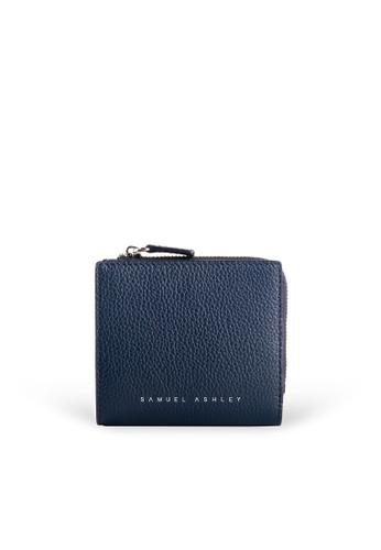 Samuel Ashley blue Flora Zip Around Wallet - Deep 2C84EAC8717DFFGS_1
