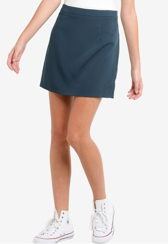 Something Borrowed green and blue Pop Mini Skirt EC981AA4097B89GS_1