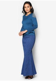 Baju Kurung Moden With Peplum - Vercato Allie