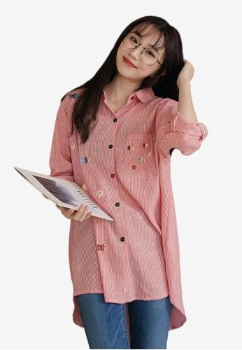 0ee7152dc0f7f Buy Tokichoi Printed Stripe Long Sleeve Blouse