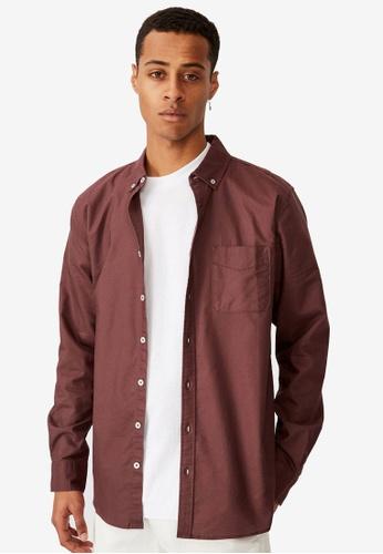 Cotton On purple Brunswick Shirt 1EE66AAD7452CBGS_1