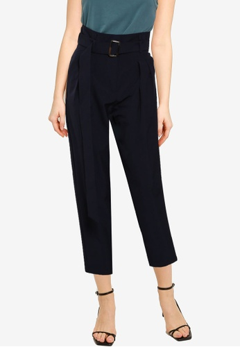 URBAN REVIVO blue Belted Carrot Trousers EB77FAADC55D80GS_1