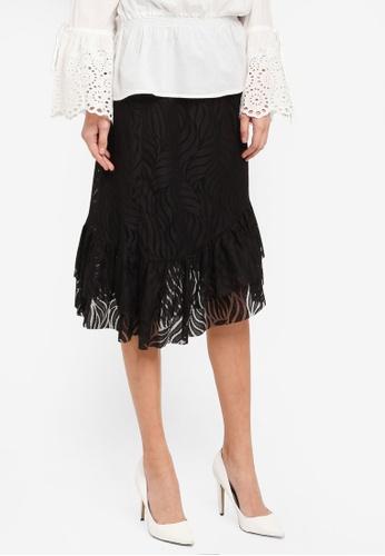 Y.A.S black Licava Lace Skirt YA631AA0T0FSMY_1