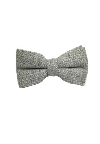 Splice Cufflinks Dolly Series Whitish Grey Wool Pre-tied Bow Tie SP744AC33QOKSG_1