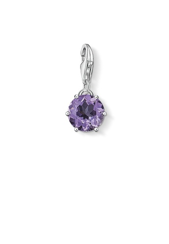 "THOMAS SABO silver Charm pendant ""birth stone February"" CFAB4ACAA01992GS_1"