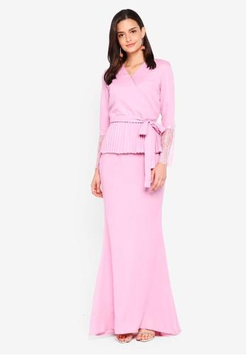 Lubna purple Kimono Wrap Kurung Lace B50DBAAFBEFFCBGS_1